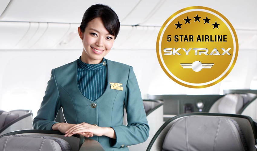 eva air certified as skytrax 5 star airline