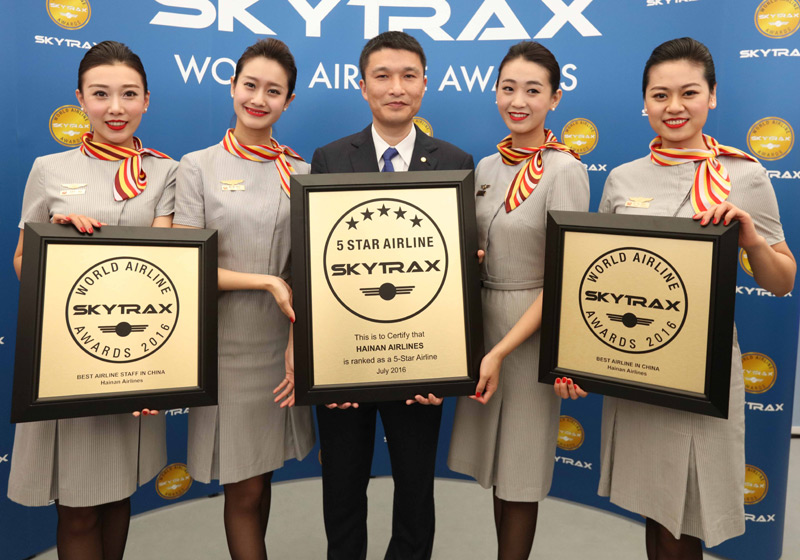 hainan airlines 5 star rating is renewed