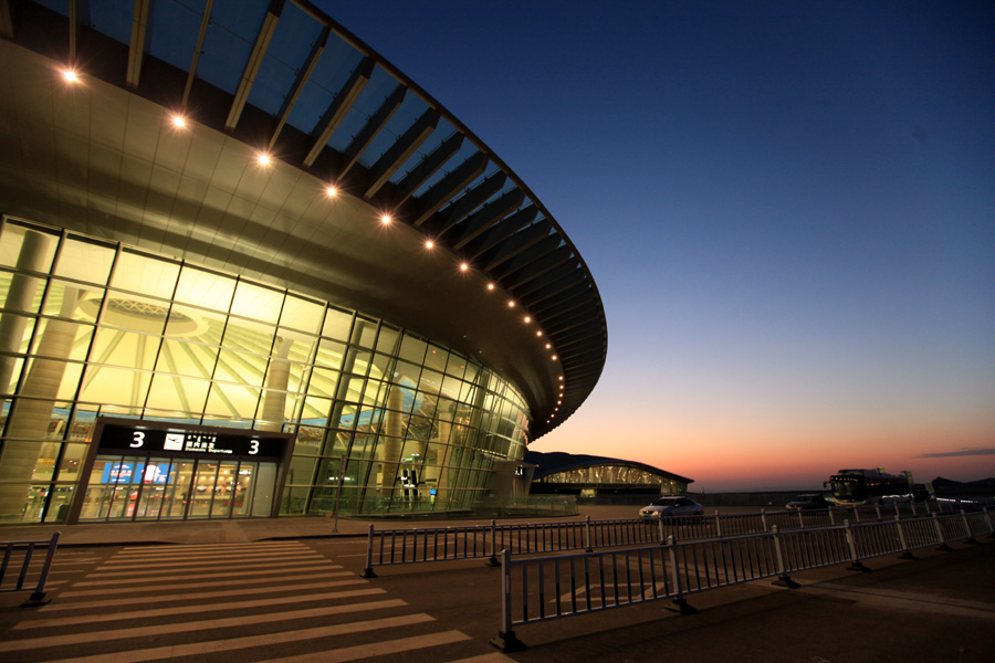 ordos airport at night