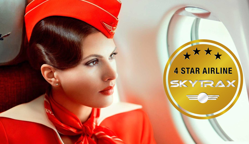 aeroflot certified as a skytrax 4 star airline