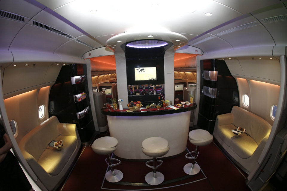 azerbaijan airlines onboard bar