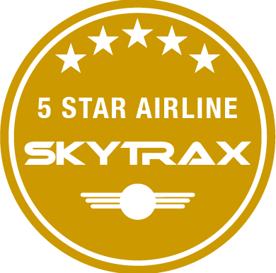skytrax 5 star airline logo