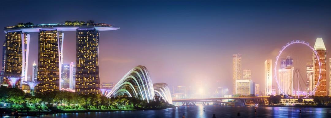 singapore at night time