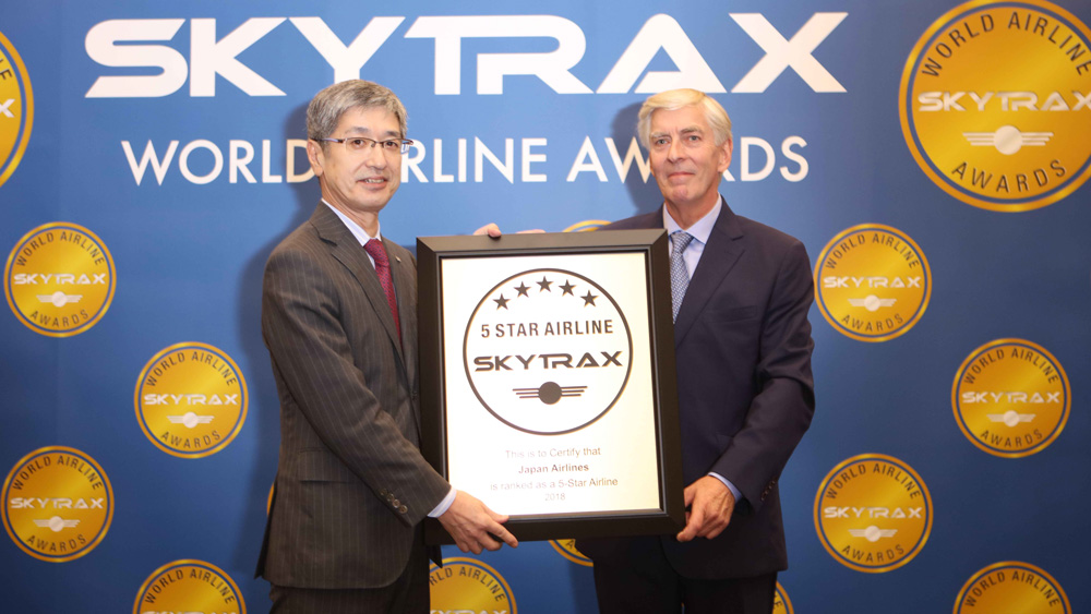 Japan Airlines is Certified as a 5-Star Airline - Skytrax